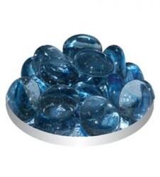 Грунт стеклянный №120 - Кошачий глаз Голубой плоский (170гр)