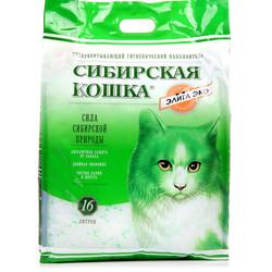 """Сибирская кошка """"Элитный"""" силикагель 16л - Зеленый"""