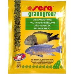 Sera Granugreen 20гр, гранулы для цихлид