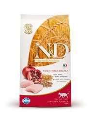 N&D - Курица и Гранат, 1,5кг (низкозерновой корм для кошек)