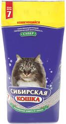 """Сибирская кошка """"Супер"""" комкующийся, 7л"""