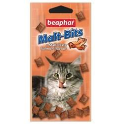 Beaphar Malt-Bits + лосось – лакомство для выведения шерсти из желудка 75т