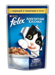 Феликс консервы для кошек 85гр - Курица и Томат (в желе)