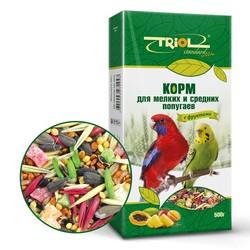 Триол 500гр - для мелких и средних попугаев Фрукты