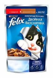 Феликс Двойной вкус 85гр - Говядина/Птица (в желе)