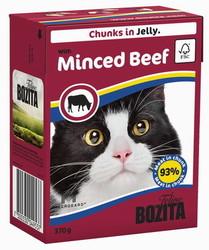Bozita для кошек, мясные кусочки в желе с рубленой Говядиной 370гр