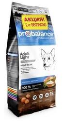 ПроБаланс 15кг + 2кг для собак Лайт
