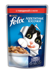 Феликс консервы для кошек 85гр - Говядина (в желе)