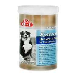 8в1 Эксель Пивные дрожжи для собак крупных пород 80т