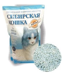 Наполнитель Сибирская кошка Элитный силикагель 8л