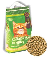 Наполнитель Сибирская кошка для котят Лесной, древесные гранулы 5л
