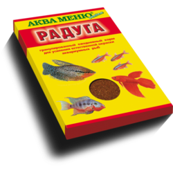Аква-меню Радуга 25гр - гранулы основной рацион