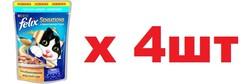 Quatro - Феликс 85гр - Треска/Томат (соус) (Felix) - Набор из 4-х штук