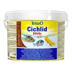 Тетра Цихлид Стикс 10л палочки, корм для всех видов цихлид