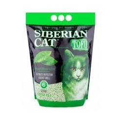 """Сибирская кошка Комкующийся 6л - Тофу """"Зеленый чай"""""""