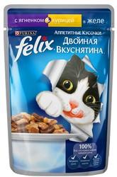 Феликс Двойной вкус 85гр - Ягненок/Курица (в желе)