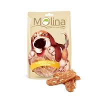 Молина 80гр - Куриный стейк с сыром, лакомство для собак (Molina)