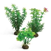 Растения пластиковые 10см, набор 3шт