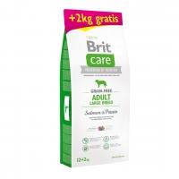 Брит Карэ 12кг + 2кг. Лосось и Картофель для собак Крупных (Brit Care)