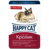 Хэппи Кэт пауч 100гр - Желе - Кролик - Стерилизед (Happy Cat)