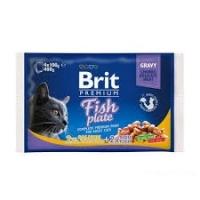 Брит пауч Соус - Рыбная Тарелка - 4штуки (Brit)