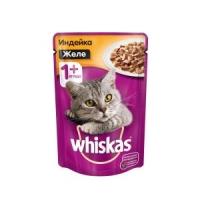 Вискас 85гр - Желе - Индейка (Whiskas)