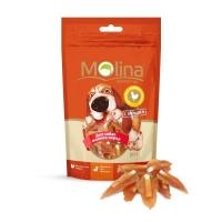 Молина 50гр - Косточки с вяленой курицей, лакомство для мелких собак (Molina)