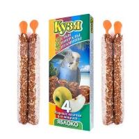 Кузя БМВ палочки для попугаев 4шт - Яблоко