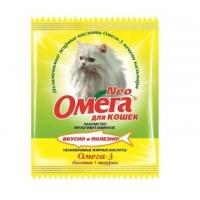 Омега NEO для кошек - Блестящая шерсть, биотин/таурин, 15шт