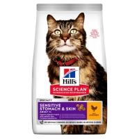 Хилс для кошек с Чувствительным Пищеварением/Кожей. Курица. 7кг (Hill's)