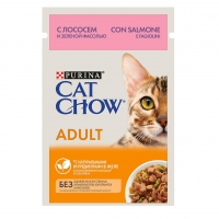 Кэт Чау 85гр - Лосось/Зеленая Фасоль - для кошек (Cat Chow)