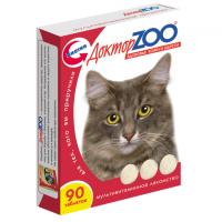 Доктор Зоо для кошек 90шт - Биотин (Красивая шерсть)