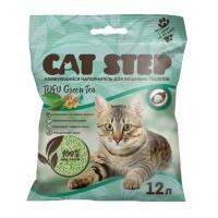 Кэт Степ Комкующийся 12л - Тофу Зеленый чай (Cat Step)