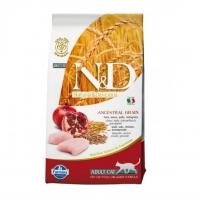 Фармина N&D - Курица и Гранат, 1,5кг (низкозерновой корм для кошек) (Farmina)