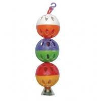"Игрушка для птиц ""Шарики с колокольчиком"" 180х30мм (Triol)"