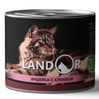 Ландор 200гр - Индейка/Клюква, корм для Стерилизованных кошек (Landor)