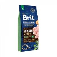 Брит 18кг для щенков Гигантских пород Курица (Brit Premium by Nature)