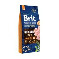 Брит 15кг для Пожилых собак Мелких и Средних пород Курица (Brit Premium by Nature)