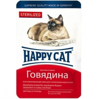 Хэппи Кэт пауч 100гр - Желе - Говядина - Стерилизед (Happy Cat)