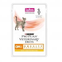 Пурина OM пауч 85гр, диета для кошек с проблемами Ожирения (Курица) (Purina)