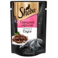 Шеба Плежер 85гр - Говядина/Кролик (Sheba)