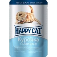 Хэппи Кэт пауч 100гр - Соус - Курица/Морковь - для Котят (Happy Cat)