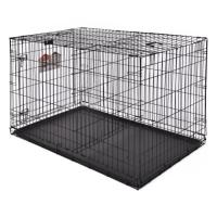 Клетка для собак (122х76х84см) Черная, 1 дверь (Midwest Crate)