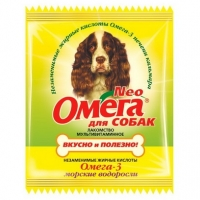 Омега NEO для собак - Крепкое здоровье, морские водоросли, 15шт