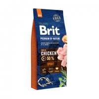 Брит 15кг Спорт для собак всех пород с высокими затратами энергии (Brit Premium by Nature)