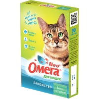 Омега NEO для кошек - Мятное настроение, кошачья мята, 90шт