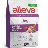 Аллева Эквилибриум 1,5кг - Утка - Сенситив для взрослых кошек (Alleva Equilibrium)