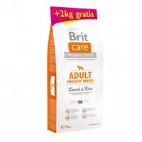 Брит Каре 12кг + 2кг. Ягненок для собак Средних (Brit Care)