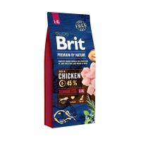 Брит 15кг для Пожилых собак Крупных и Гигантских пород Курица (Brit Premium by Nature)