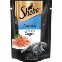 Шеба Плежер 85гр - Лосось, соус (Sheba)